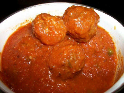 Meatballs in Marinara with capers