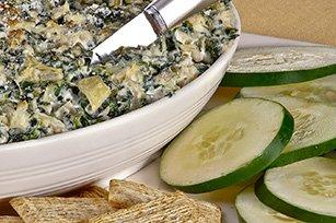 Savory Parmesan Spinach & Artichoke Dip recipe