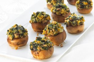 Spinach-Stuffed Mushrooms recipe