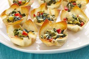 Warm Spinach & Artichoke Cups recipe