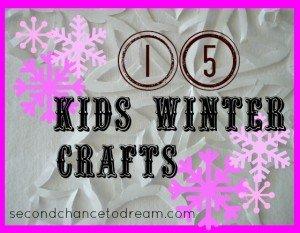 Second Chance to Dream: 15 Kids Winter Crafts #kidscrafts