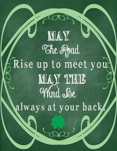 Second Chance to Dream: St. Patrick's Day Chalkboard Printable #stpatricksday #freeprintable
