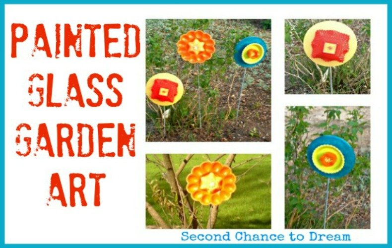 Painted Glass Garden Art