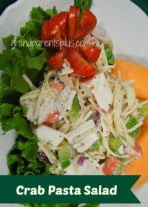 Crab Pasta Salad by: Grand Parents Plus