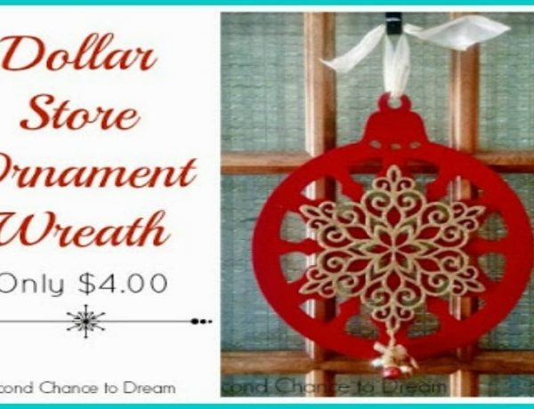 Second Chance to Dream: Dollar Store Ornament Wreath