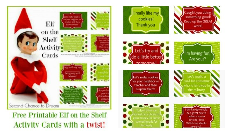 Free Printable Elf on the Shelf Activity Ideas