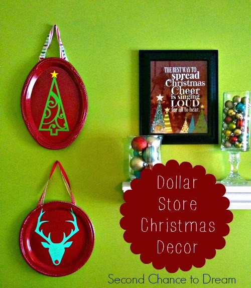 Second Chance to Dream DIY Dollar Store Christmas Decor #dollarstorecrafts #diychristmas