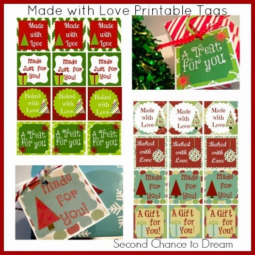Second Chance to Dream Made with Love Tags- For all those handmade gifts you make