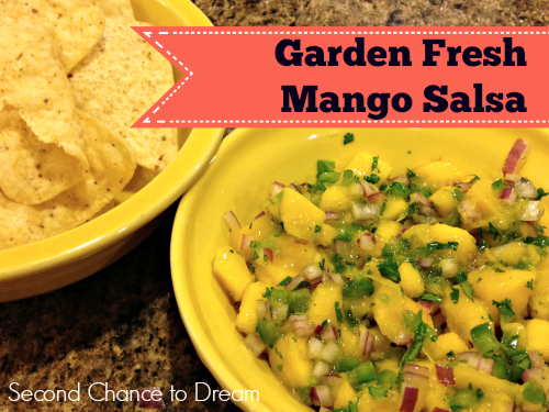 Second Chance to Dream: Garden Fresh Mango Salsa
