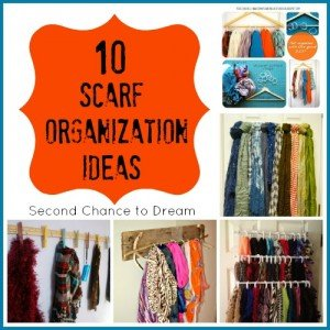 10+Scarf+Organization+Ideas
