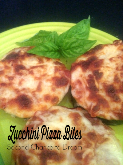 Second Chance to Dream: Zucchini Pizza Bites #zucchini #gardenrecipes