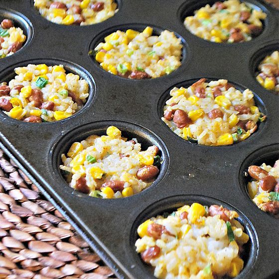 Rice & Bean Cakes | 9 Mini Muffin Tin Recipes