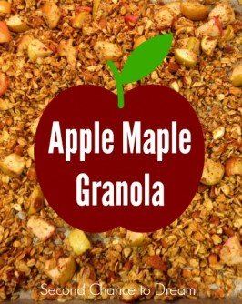 Second Chance to Dream: Apple Maple Granola #apples