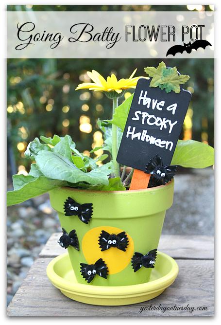 DIY Going Batty Flower Pot