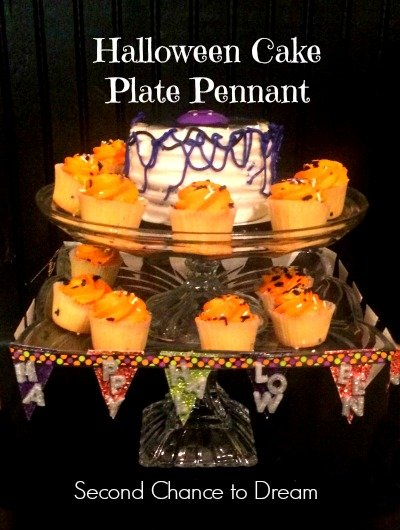 Second Chance to Dream: Halloween Cake Plate Pennant