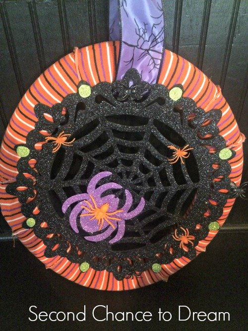 Second Chance to Dream: Finished Dollar Store Wreath