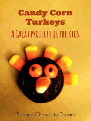 Second Chance to Dream: Candy Corn Turkeys #thanksgiving #kidscrafts