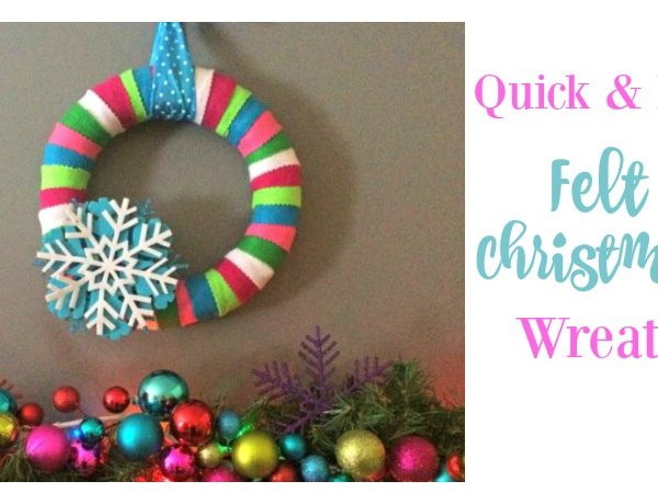 Second Chance to Dream: Quick & Easy Felt Christmas Wreath #ChristmasDIY #Christmas