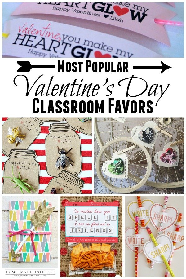 The most popular Valentine's Day favors are right here. Need a few ideas for your kids' Valentine's day classroom favors? We've rounded up easy Valentine's Day Favors that are simple and creative.