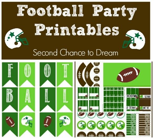 Second Chance to Dream: Football Party Printables #football #printables