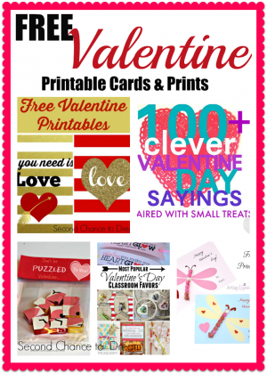 Second Chance to Dream: Free Valentine Printable Cards & Prints