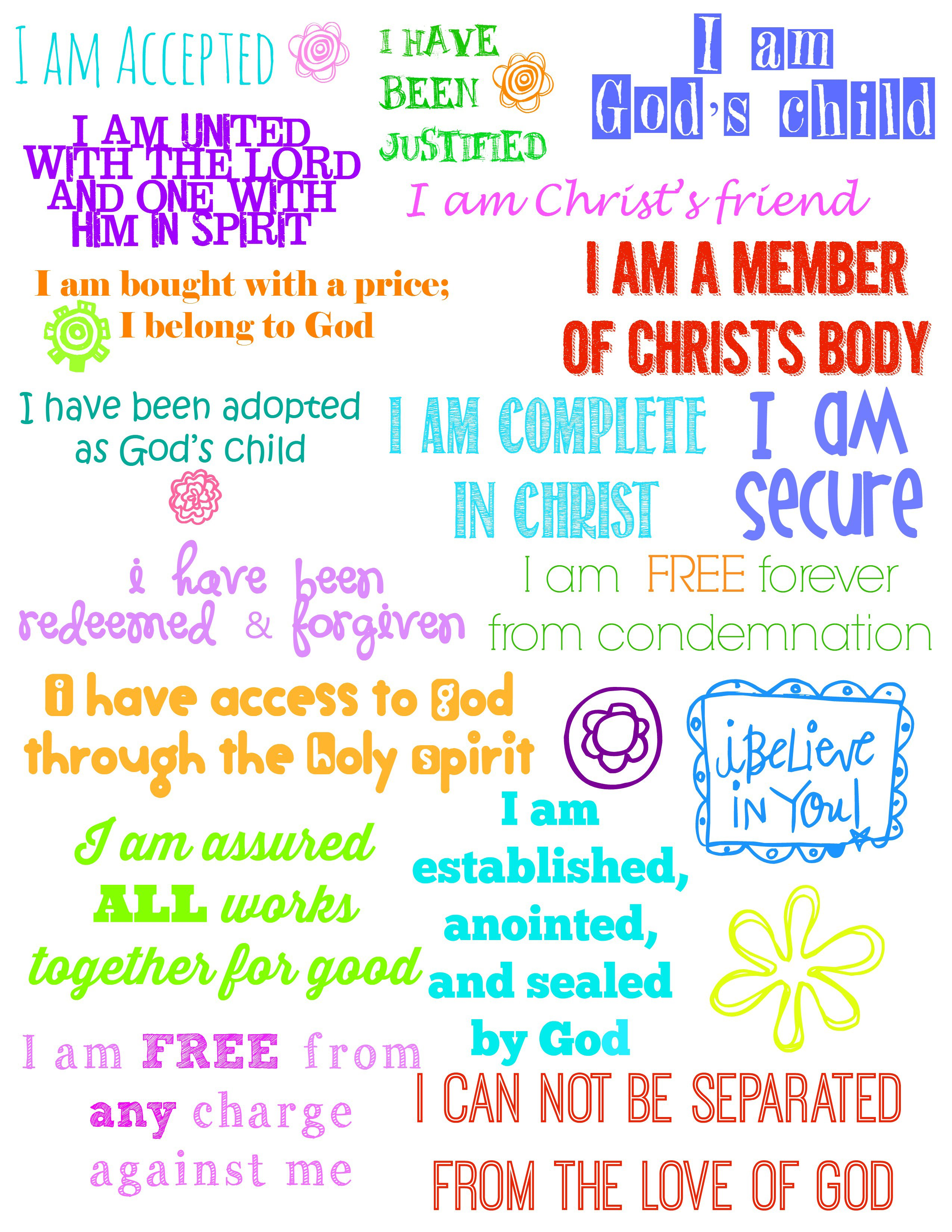 Second Chance To Dream Who I Am In Christ Journal Printables