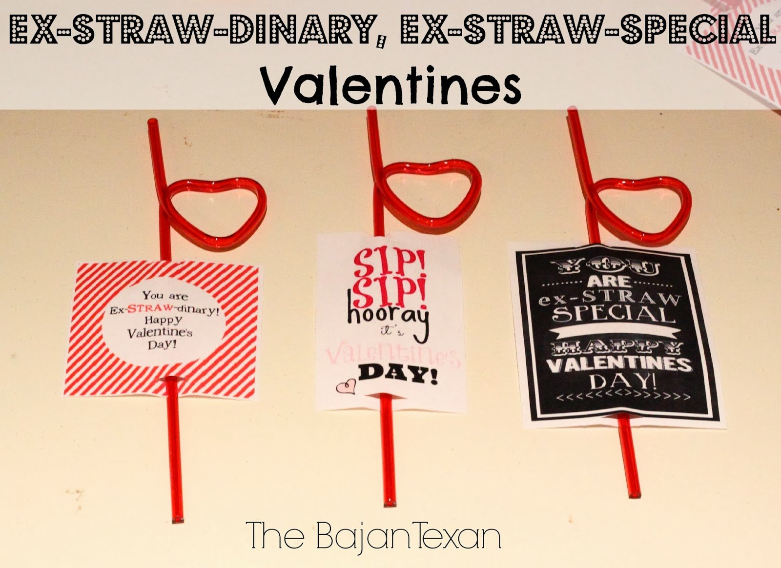 valentines using straws