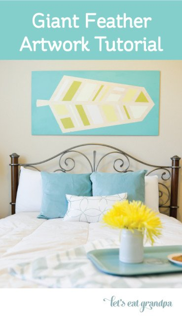 Giant Feather Wall Art Tutorial by @letseatgrandpa