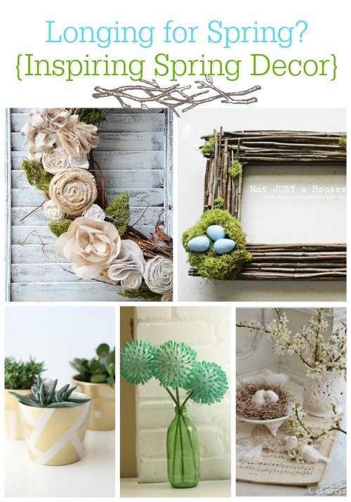 Second Chance to Dream: Inspiring Spring Decor #spring #diydecor