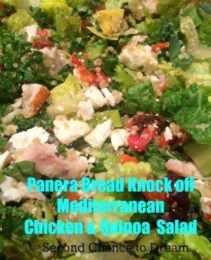 Panera Bread Knock Off Meditteranean Chicken & Quinoa Sallad