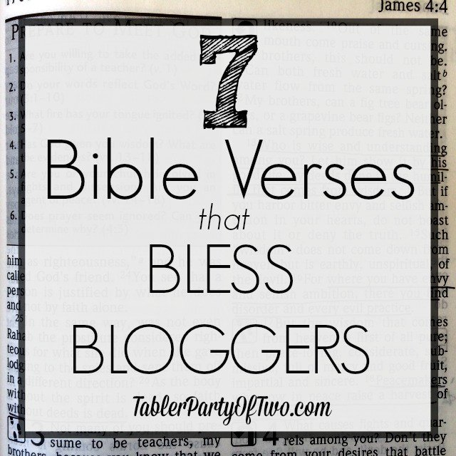 Bible Verses for Bloggers