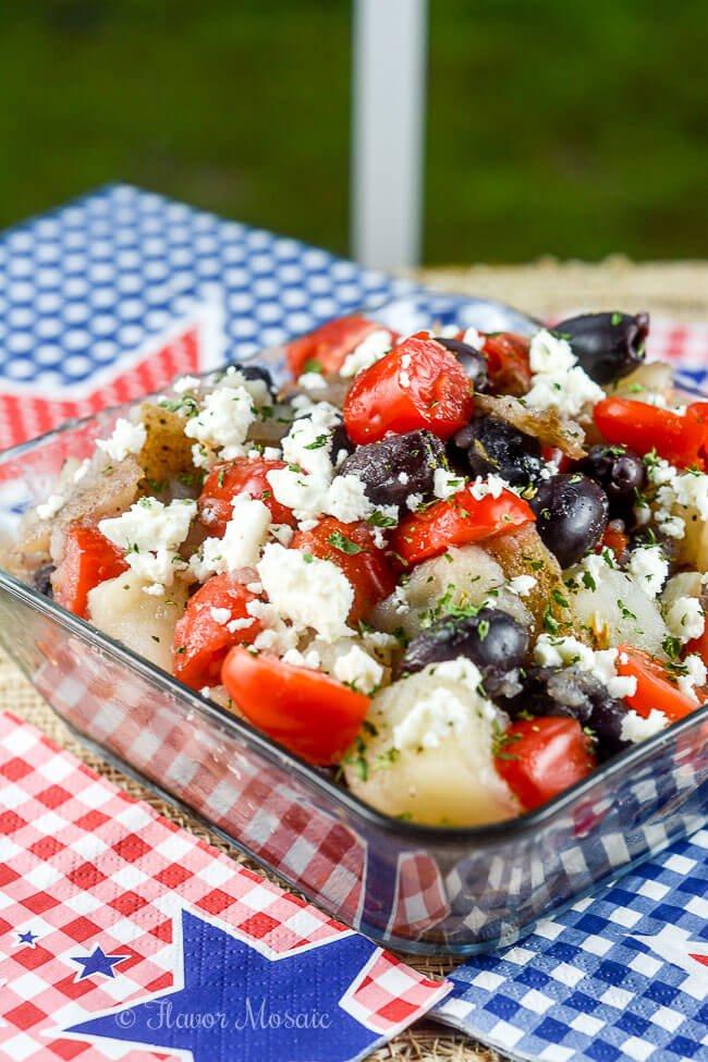 Greek Potato Salad Mediterranean Recipe