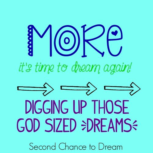 SecondChance to Dream: Digging up those God sized Dreams