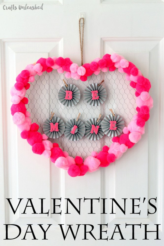 DIY-valentine-wreath-be-mine-Crafts-Unleashed-1