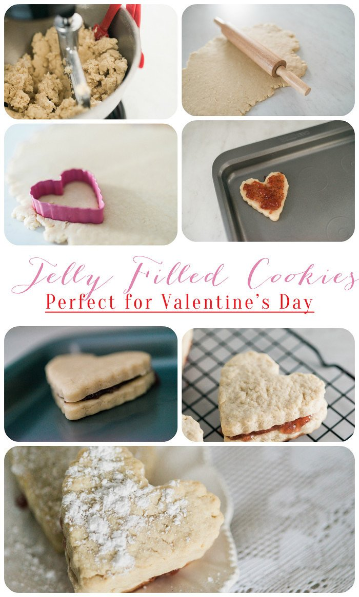 The perfect Valentine's day cookie recipe // Jelly filled cookies
