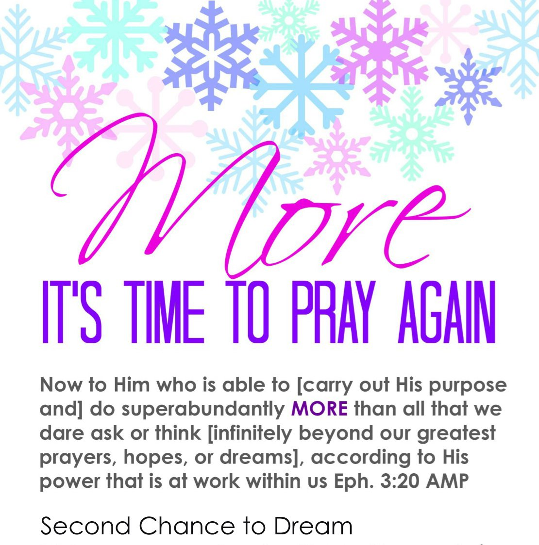 Second Chance to Dream: More It's Time to Pray Again