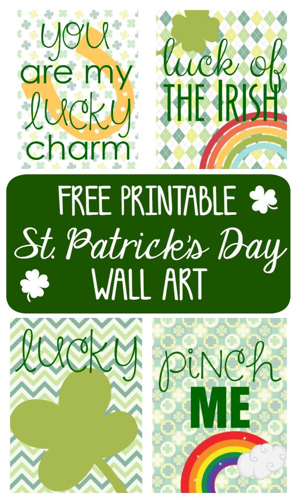 Free Printable St. Patrick's Day Wall Art
