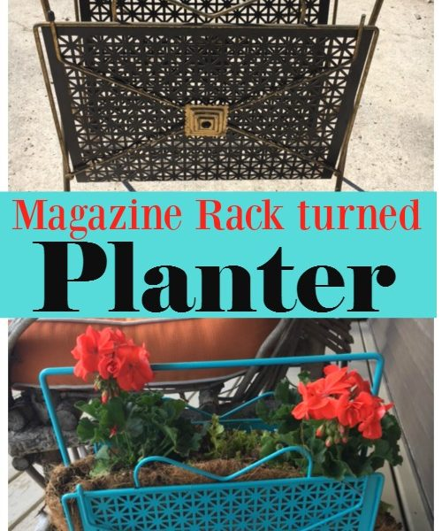 Second Chance to Dream: Magazine Rack turned Planter #upcycle
