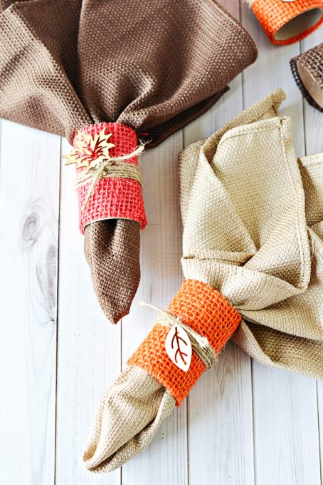 Easy DIY Thanksgiving Napkin Rings Craft