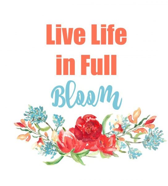 Second Chance to Dream; Live Life in Full Bloom Free Printable perfect for adding some color to your home for almost next to nothing.