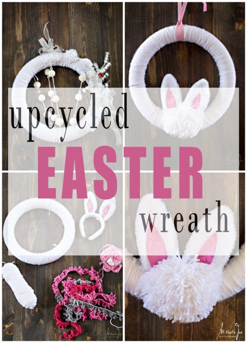 upcycled Easter wreath - All that's Jas
