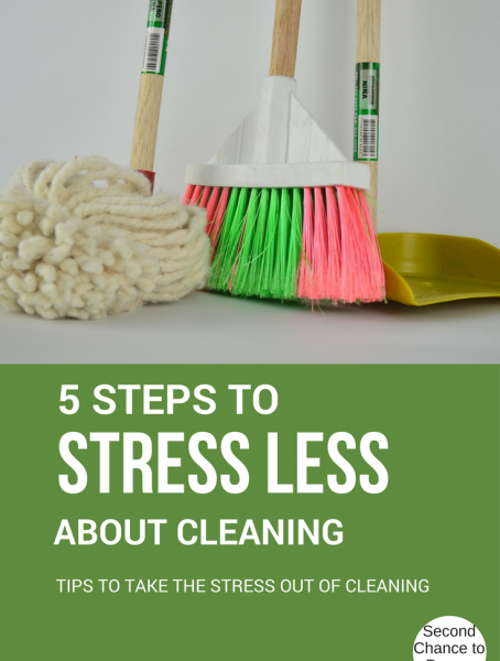Second Chance to Dream: 5 Steps to Stress Less about cleaning