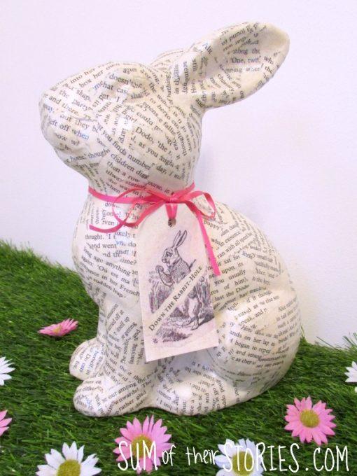 Alice in Wonderland decoupage rabbit