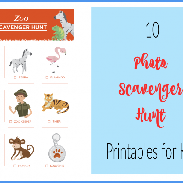 Second Chance to Dream: 10 Photo Scavenger Hunt Printables for kids